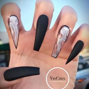 35 Fantastic Designs For Coffin Nails You Must Try – Nails