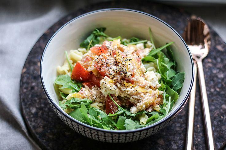 vegetarisk-pasta-ricotta-tomat-recept-lunch-middag