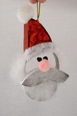Toilet paper tube Santa