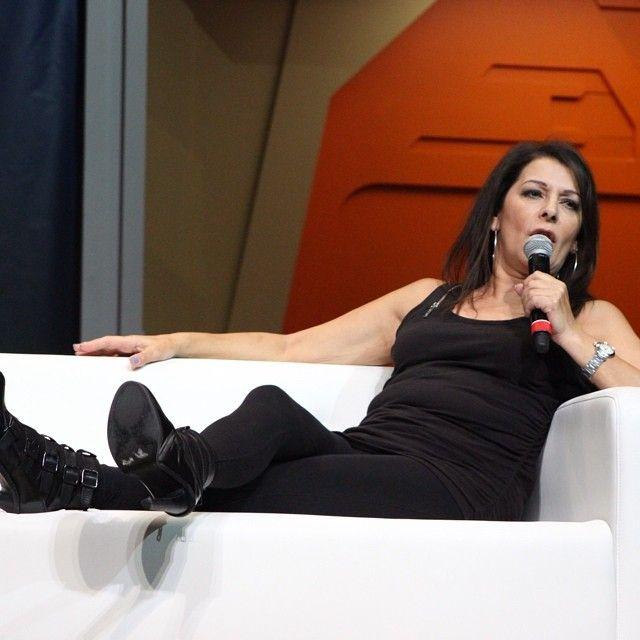 Marina Sirtis relaxing at #stlv #startrek