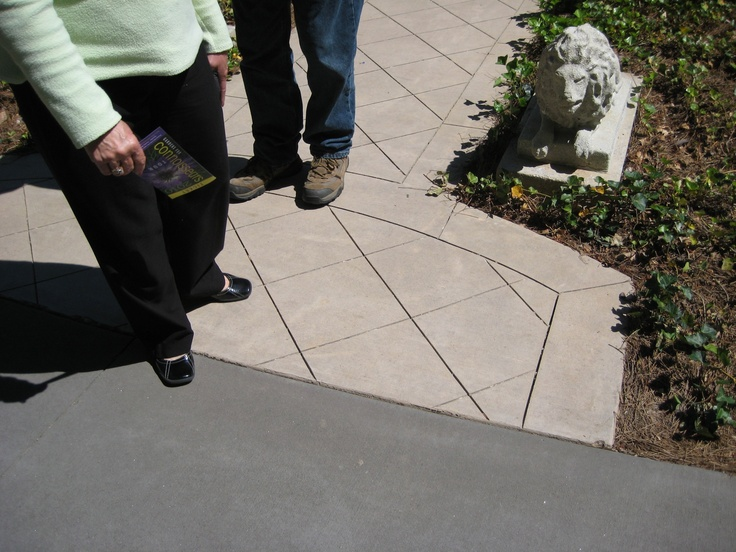 Cut Concrete Detail   Photographed By Heather Moll Dunn Landscape And  Garden Design On The