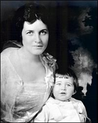Rose Kennedy with her first son, Joseph Jr. Circa 1918