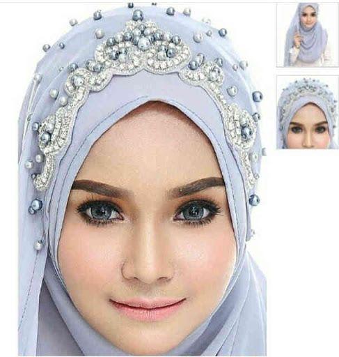 Veil Hijab Shawl Veil Swarosky