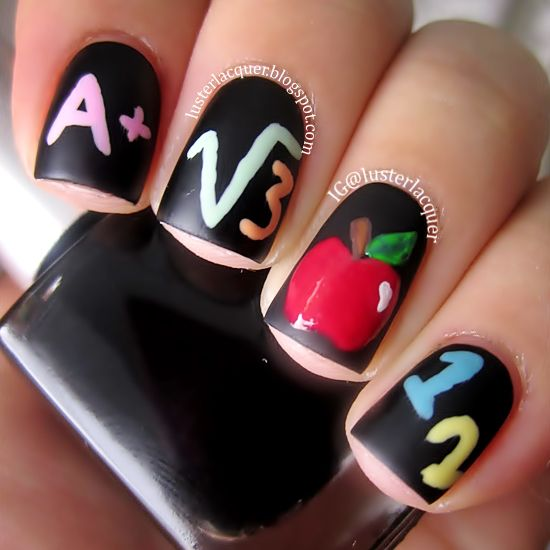 Get ready for the new school year with some fun nail art. Try one of these  adorable beauty ideas perfect for the back-to-school season. - 58 Best Back To School Nail Designs Images On Pinterest School