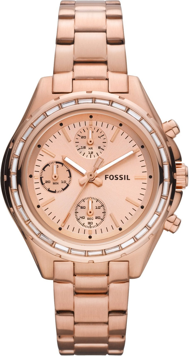 fossil ladies watch chronograph rose gold dylan crystal ch2826 free gift. Black Bedroom Furniture Sets. Home Design Ideas