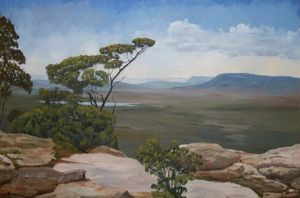 Grampians Victoria - Oil on canvas - Artist John Beattie