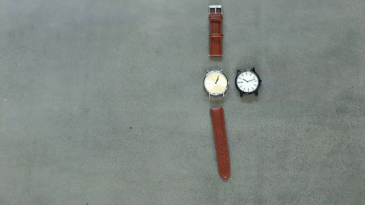 Stop motion tutorial on how to swap or interchange a leather watch band