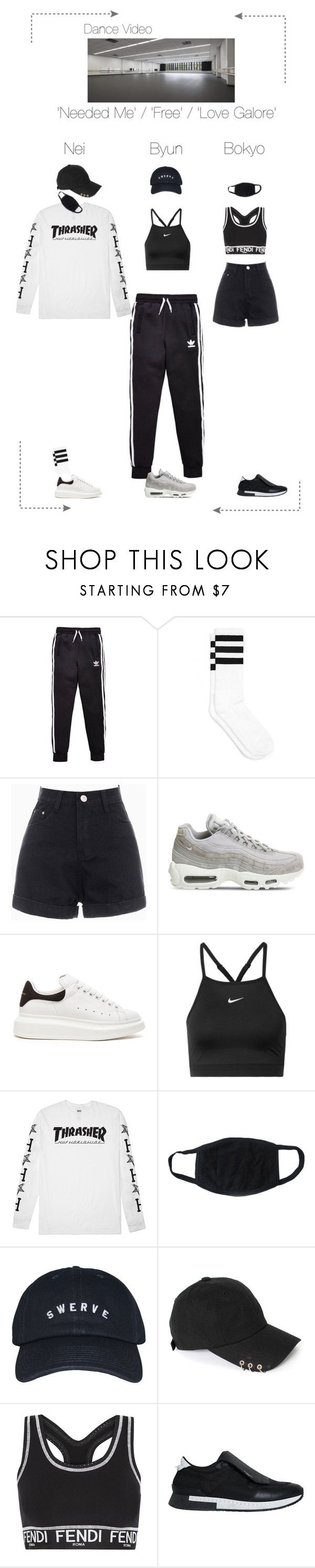 Lunar (루나) Needed Me / Free / Love Galore by Dance Line (Dance Video) by lunar-official ❤ liked on Polyvore featuring adidas Originals, NIKE, Alexander McQueen, HUF, Fendi and Givenchy