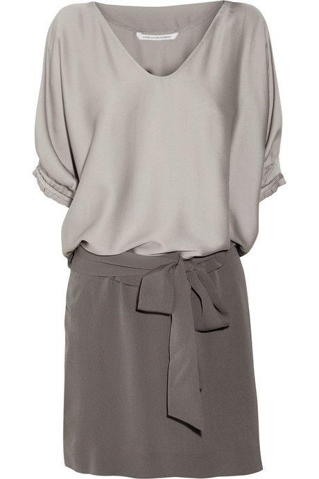 Diane von Furstenberg Edna stretch-silk satin and silk-crepe dress