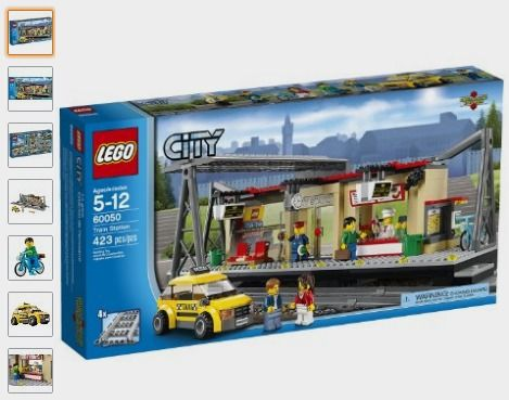 AmazonSmile: LEGO City Trains Train Station 60050 Building Toy: http://amzn.to/2afehYu