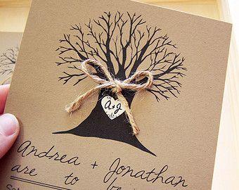 Albero nozze inviti inviti matrimonio-50-invito a nozze rustiche-invito matrimonio - albero nozze invito - buste inclusi