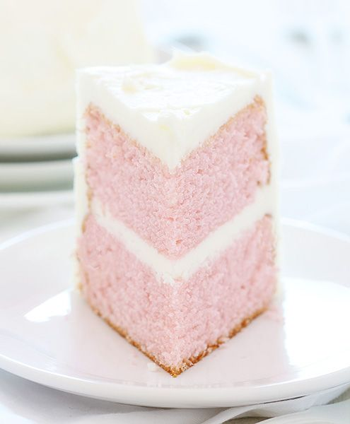 A whipped buttercream frosting makes a perfect match for this delicate, fluffy, light cake. Get the recipe from I Am Baker.   - Delish.com
