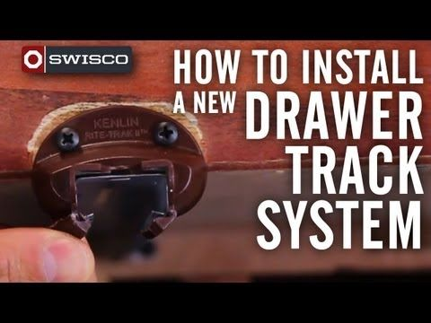 Have a drawer not working properly? Check out this quick DIY video ▶ How to install a new drawer track system - YouTube