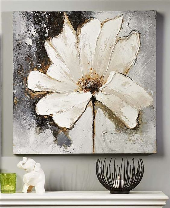 61 best art images on pinterest acrylic paintings abstract giftcraft white flower oil painting on canvas mightylinksfo