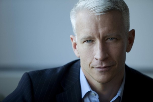 Anderson Cooper.... white hair never looked so good.