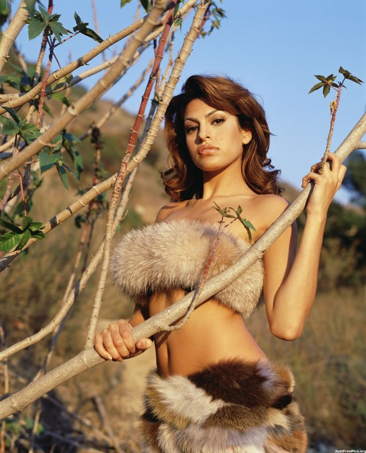 Only eva mendes fur bikini