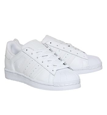 Adidas Superstar GS White Mono Foundation - Hers trainers
