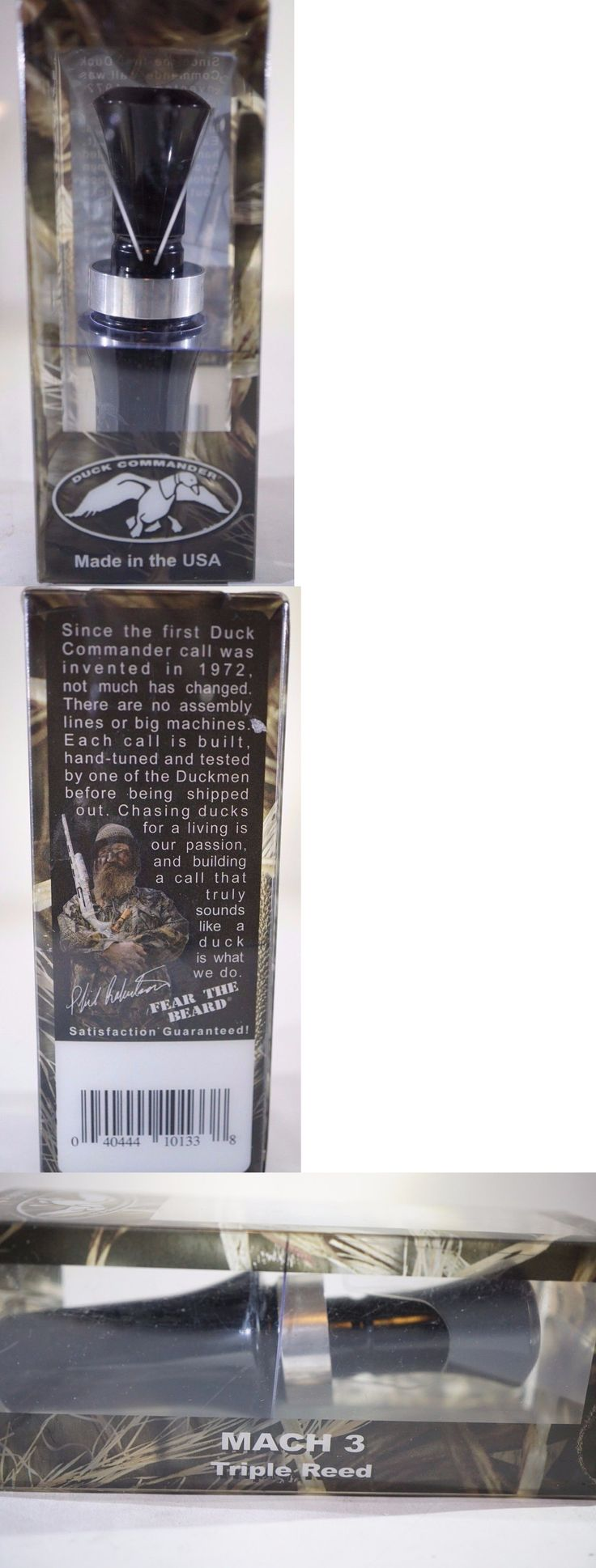Game Calls 36252: Duck Commander Dcmach3 Mach 3 Duck Call Triple Reed Acrylic Black - New -> BUY IT NOW ONLY: $98.09 on eBay!