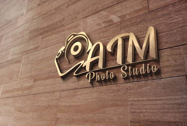 3d Wall Logo Mockup Psd File Free Download Wall Logo Mockup