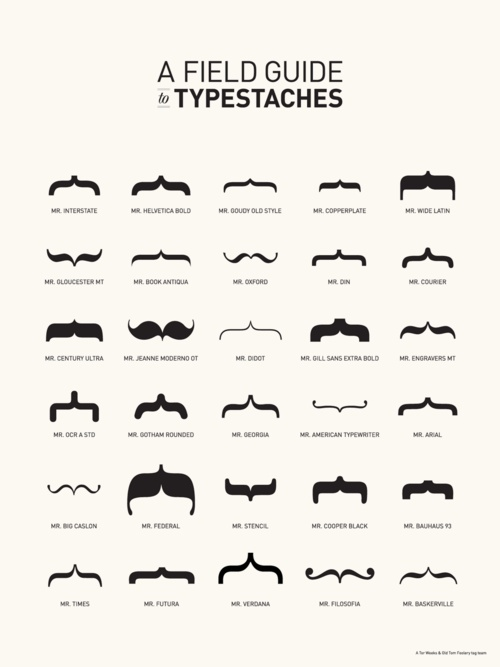 Fields Guide, Guide To, Whiskers, Graphics Design, Fonts, Typography, Posters, Mustaches, Typestach
