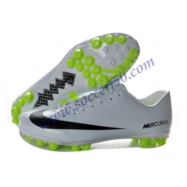 2013 New White Black Volt Nike Mercurial Veloce AG Football Boots Shop