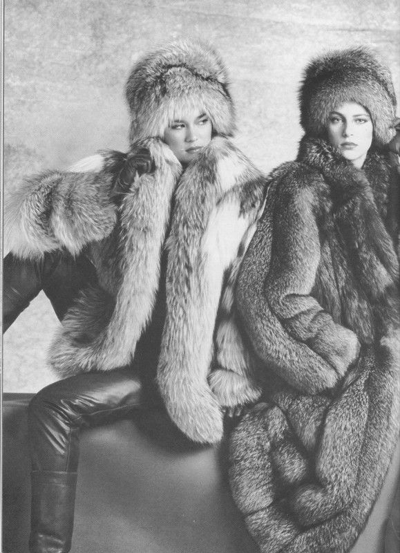 retro fox fur coats u0026 hats : Fur : Pinterest : Fox fur, Fur coat and Fur