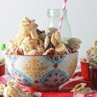 White Christmas Chex Mix by Tablespoon