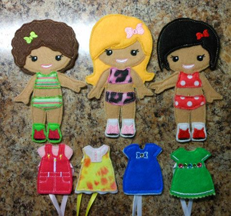 In The Hoop Dress Up BFF Girl Doll Embroidery by NewfoundApplique, $8.99