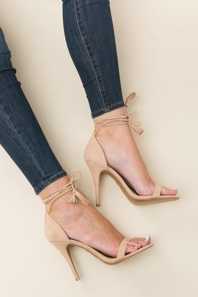 Wrapped Up Heels in Nude | ShopDressUp.com