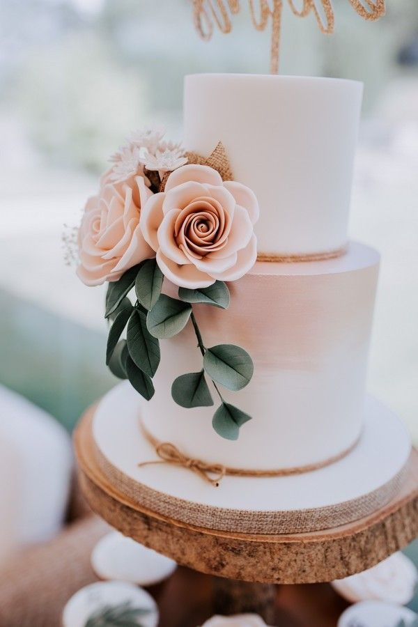 Top 20 Simple Pink Wedding Cakes For Spring Summer Weddings Simple Wedding Cake Romantic Wedding Cake Floral Wedding Cakes