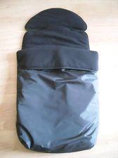 Universal Pram/Buggy/Pushchair Footmuff/Cosytoes in BLACK Fits ICandy/Maclaren