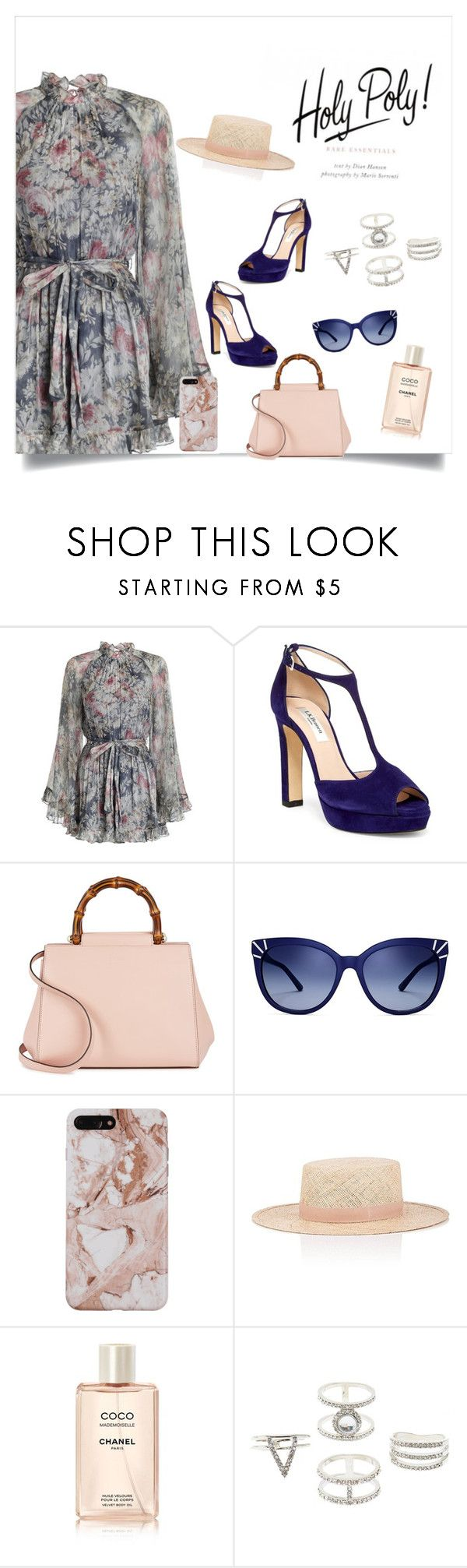 """""""Untitled #52"""" by bebebelabee on Polyvore featuring Zimmermann, L.K.Bennett, Gucci, Tory Burch, Janessa Leone and Charlotte Russe"""
