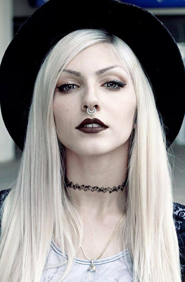 Gotische Blonde goth, Goth hair, Goth beauty
