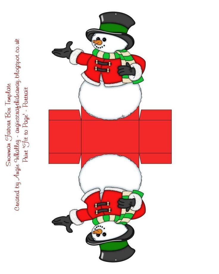 Snowman Favor Box Template Click On The Image To Go To The