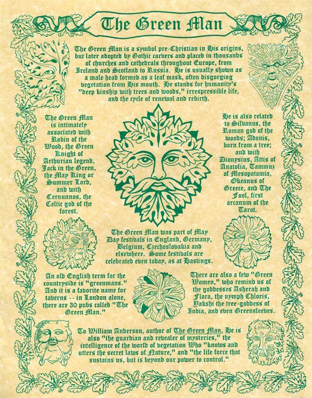 Greenman Cheat Sheet Small Celtic Book Of Shadows