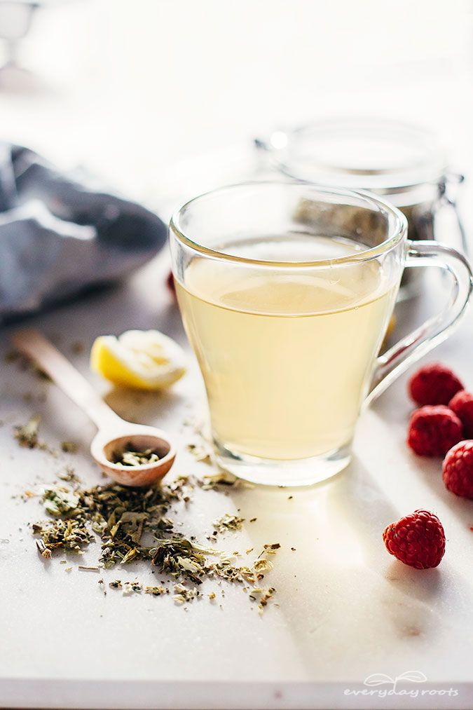 Learn how to make red raspberry leaf tea and discover all the health benefits, including- reduced menstrual cramp pain, digestive help and heart health.
