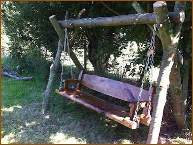Swing Bench By LePav Timber, Who Make Custom Rustic Furniture From Fallen  Trees In Jersey