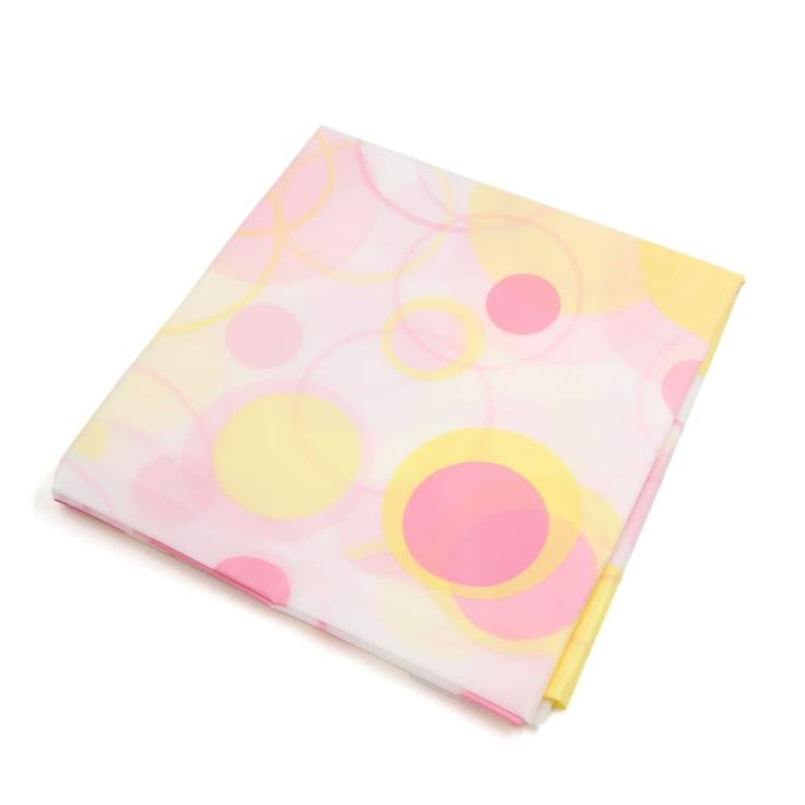 "51.2"" x 55.1"" Pink Yellow Peva Waterproof Anti-dust Table Desk Cover Tablecloth"