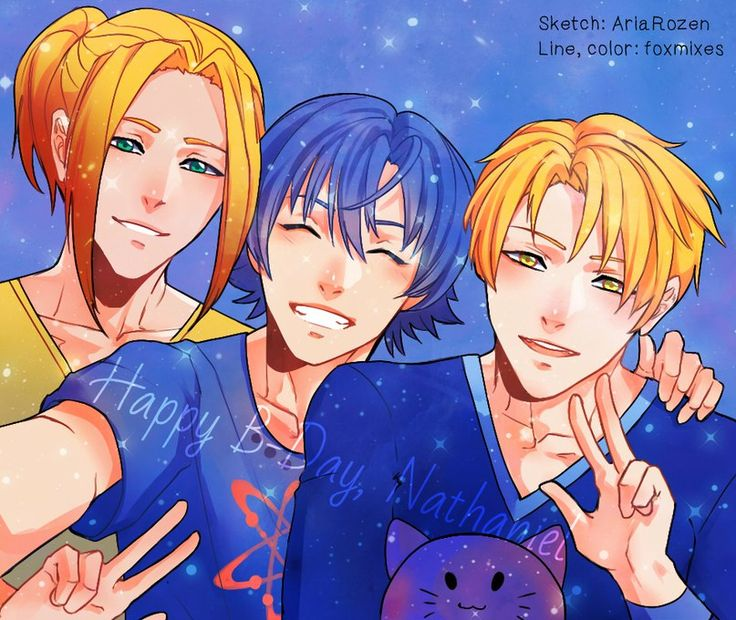 Dake, Alexy e Nathaniel