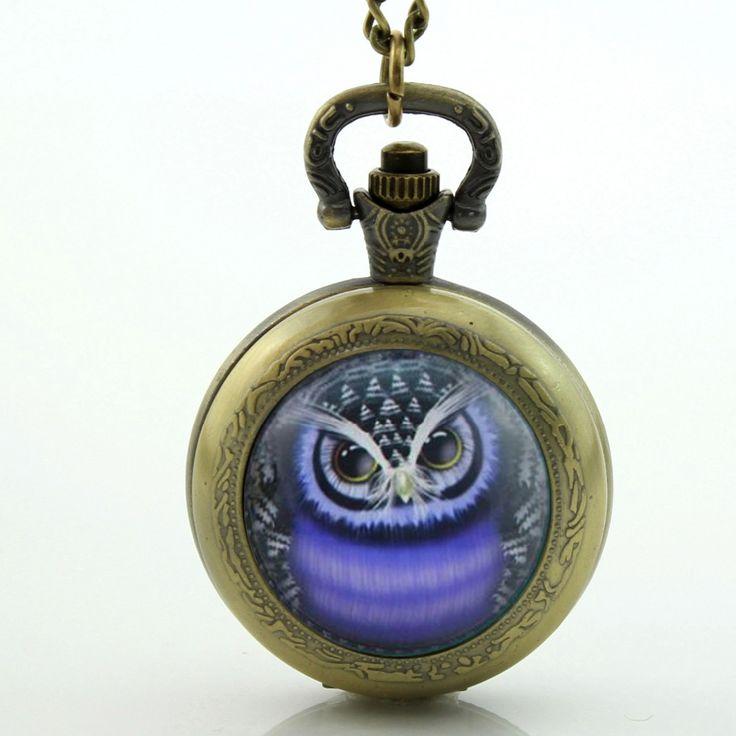 Blauw Uil Zakhorloge Ketting Glas Art Photo Uil Ketting Uil Horloge Hanger in Item:blauw Uil Zakhorloge Ketting Glas Art Photo Uil Ketting Uil Horloge HangerProduct KenmerkenDiameter ----- Ongeveer  van Pocket& fob horloges op AliExpress.com | Alibaba Groep