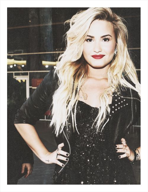 Demi Lovato's hair! Perf. Always perf. Idk about the color, but the style. Just pretty.