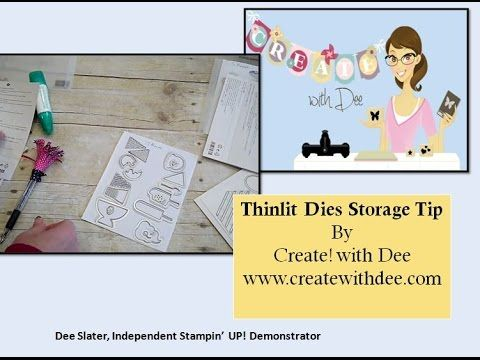 Tips to store & keep track of all the little dies in your Thinlit sets! Thinlits, Stampin' UP!, Tips