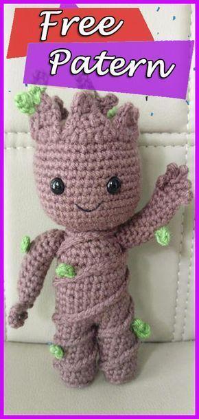 Kostenlose Häkelanleitung: Baby Groot von Guardians of the Galaxy #crochet #c ….
