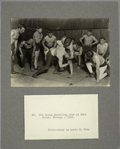 The Greek wrestling club at Hull House, Chicago, 1910