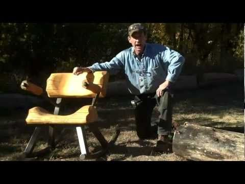How To Cut A Log To Make Rustic Furniture