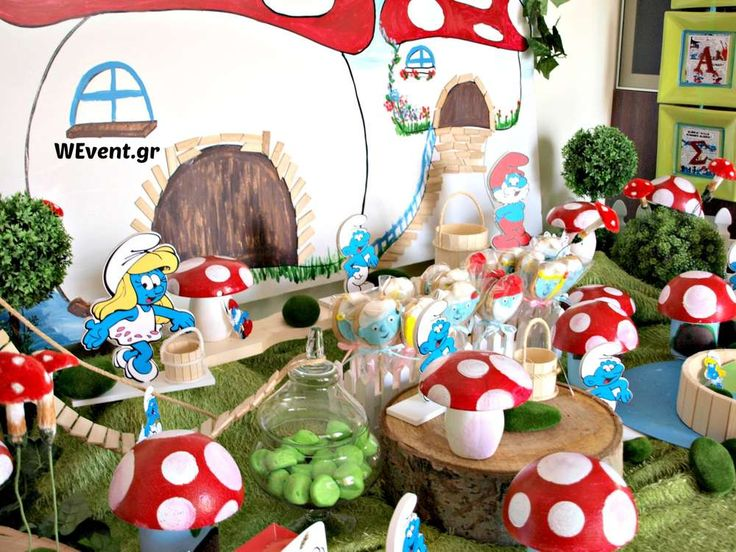 Smurf birthday party! See more party ideas at CatchMyParty.com!