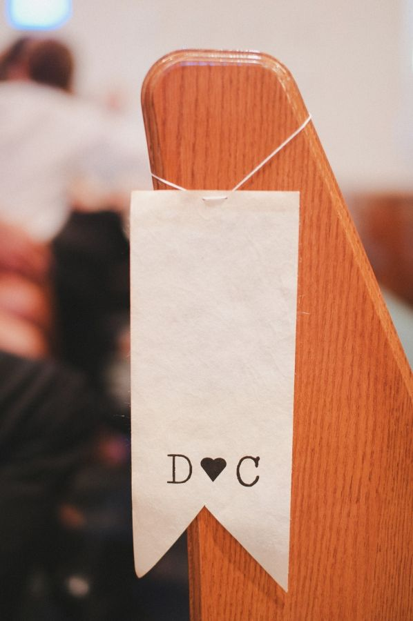 pew tags...just add a little sprig of flowers at the top!