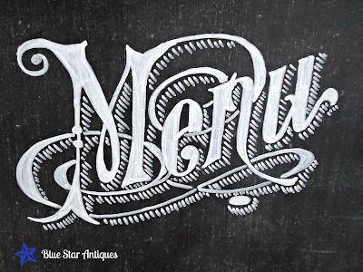 How to transfer the image to a chalk board.: Stars Antiques, Chalkboards Design, Menu Chalkboards Art, Decoration Idea, Chalk Boards, Chalk Typography, The, Chalkboards Menu Art, Blue Stars