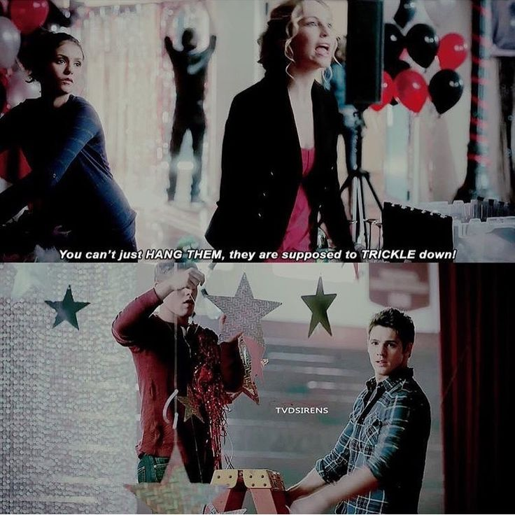 Yes Caroline, yell at Matt and Jeremy for not having them trickle down!!!! #TVD