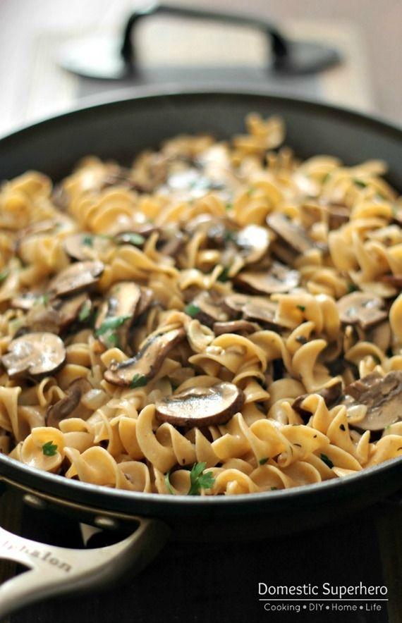 Skinny Mushroom Stroganoff | Recipe | New Year's ...